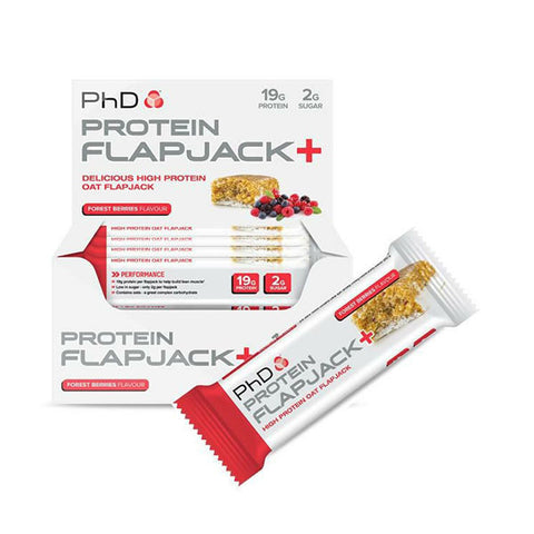PROTEIN FLAPJACK+ 12x75g Forest Berries | PhD | Outletintegratori.com