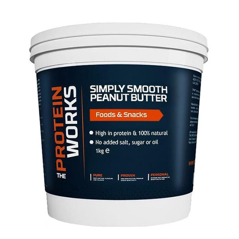 PEANUT BUTTER 1kg SIMPLY SMOOTH | THE PROTEIN WORKS |  Outletintegratori.com
