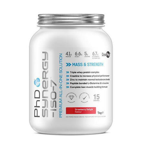 SYNERGY-ISO-7 1kg Strawberry Delight | PhD | Outletintegratori.com
