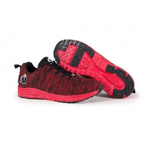BROOKLYN KNITTED SNEAKERS RED & BLACK|GORILLA|Outletintegratori.com