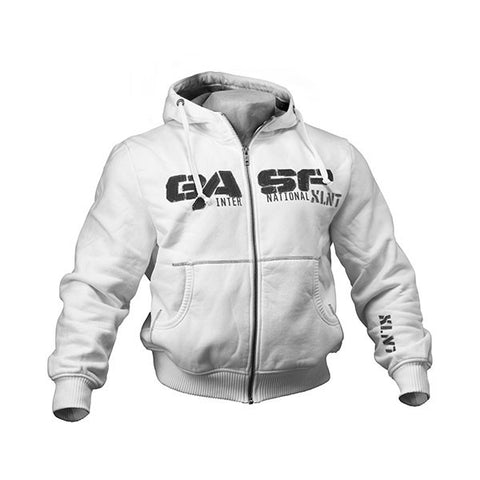 1,2 LBS HOODIE BIANCO FRONTE | GASP WEAR | Outletintegratori.com