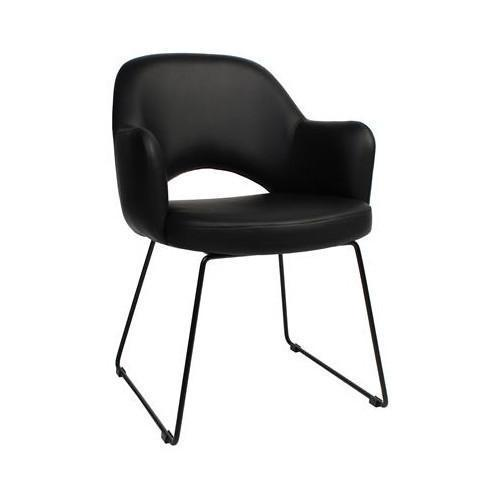 Leroy Sled Metal Chair Black Just Office Chairs