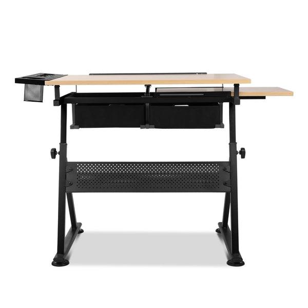 Dana Office Desk Natural And Black Just Office Chairs