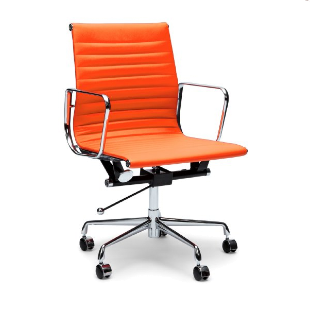 Carson leather office chair orange