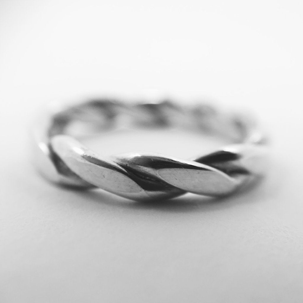 Handmade Braided Ring - 925 Sterling Silver