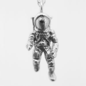Astronaut Pendant - 925 Sterling Silver