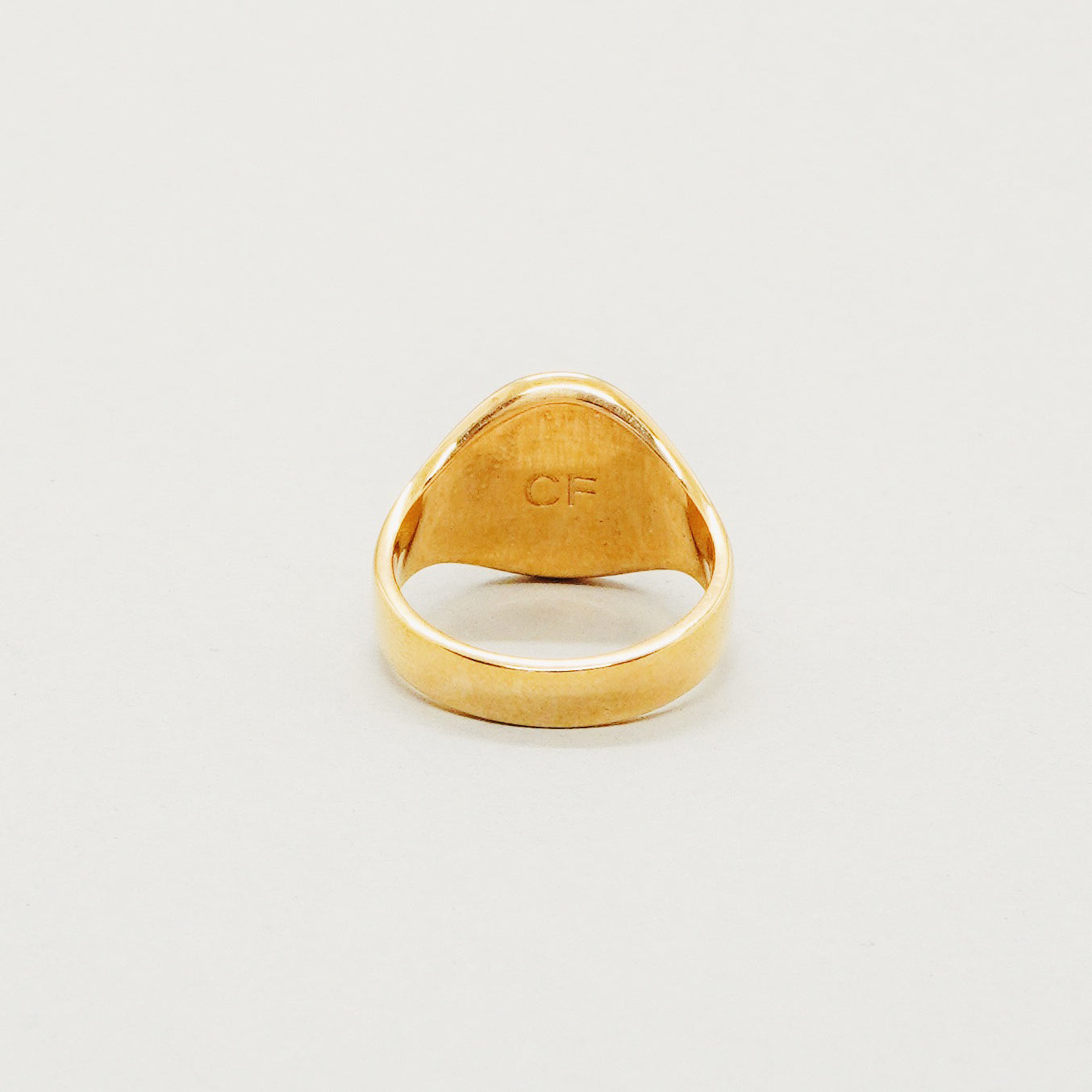 Classic Signet Ring - Gold Plated 925 Sterling Silver