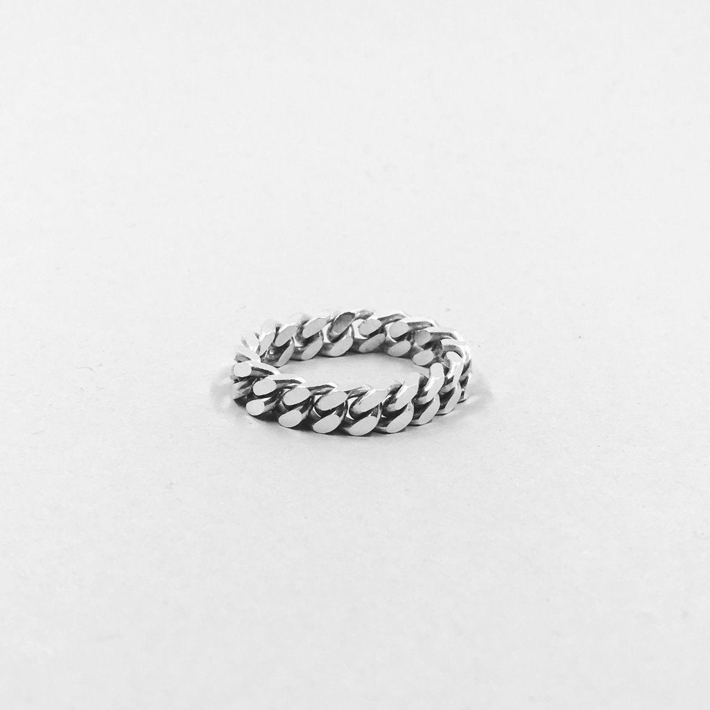 Curb Chain Ring - 925 Sterling Silver