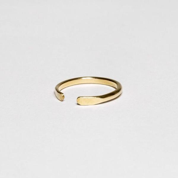 Open Ring - Gold Plated 925 Sterling Silver