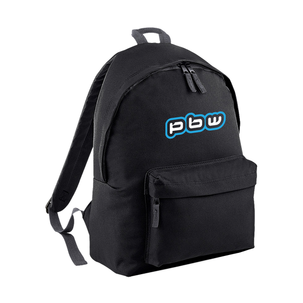 PBW Blue Logo Black Backpack