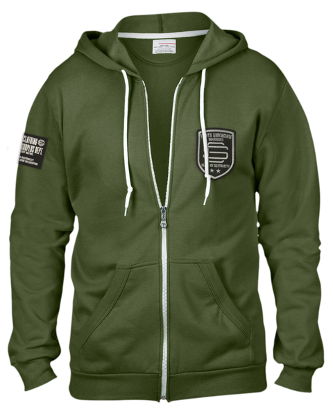 Parts Unknown Army Zip Hood
