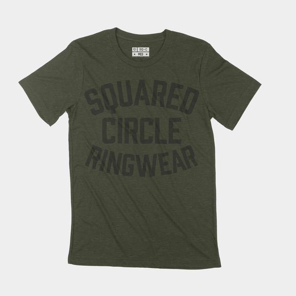Squared Circle Ringwear Training Tee Army Green