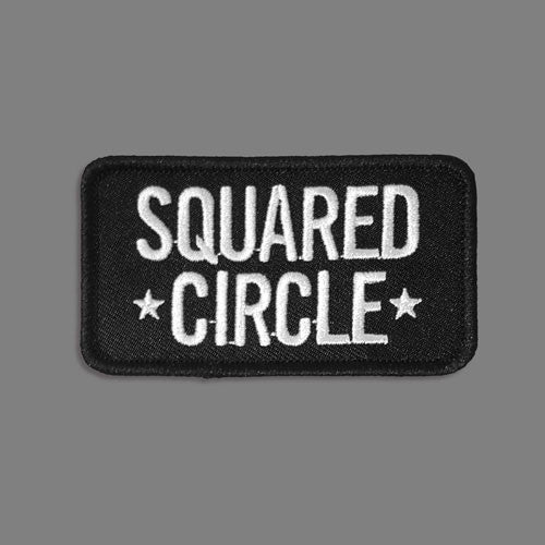 Squared Circle Text Patch