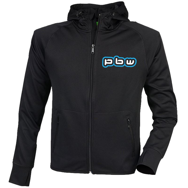 PBW Blue Logo Hooded Training Jacket