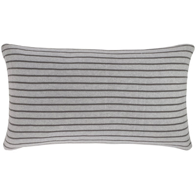 Stripe reversible pillow - Grey/Smoke Pearl
