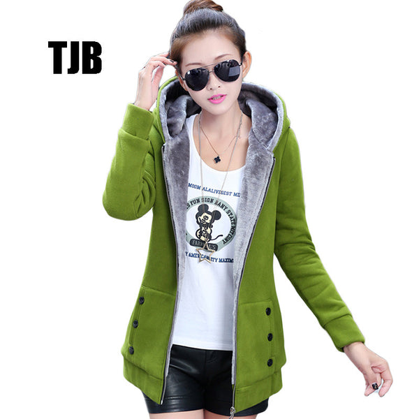 2016 Spring Autumn Jackets Women Casual Hoodies Coat  Cotton Sportswear Coat Hooded