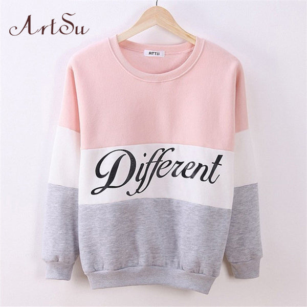 2016 women's casual sweatshirt Autumn and winter women fleeve hoodies printed letters