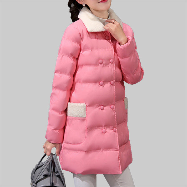 2016Women Long Coat Fashion Autumn Winter Women Jacket Female Cotton Basic Jackets