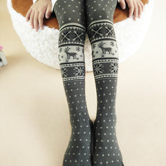 2016 Fashion Autumn Cartoon Dear Snowflake Christmas Baby Girl Tights