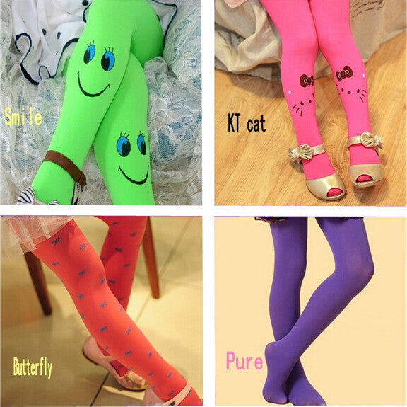 2016 Spring & autumn Velvet  High quality children pantyhose girls kids tights.