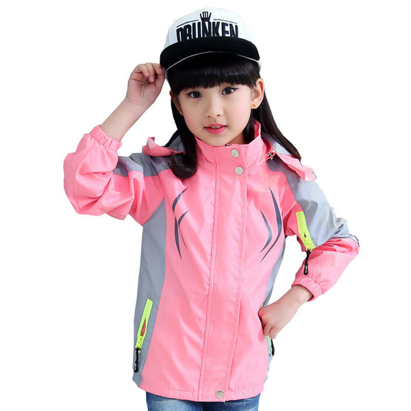 2016 Autumn Winter Style Girls Kids Hooded Casual Sport Jacket Zipper Coats Jackets