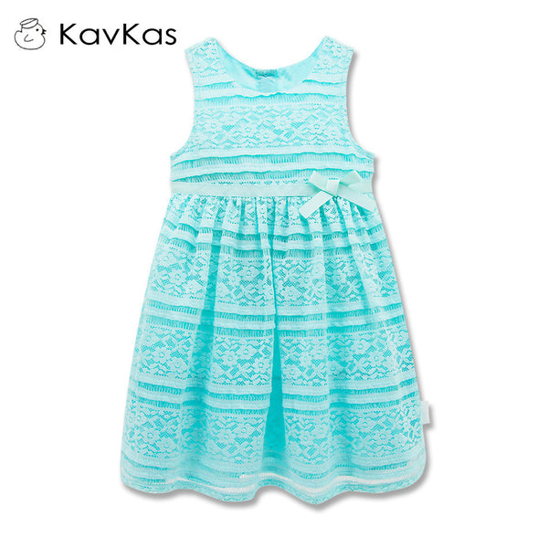 2016 Girls Dresses Round Neck Shape With Lace Decoration Princess Dress
