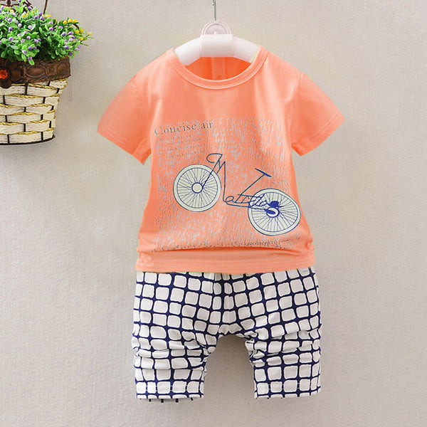 2016 Fashion Kids Clothes Sets Casual T-Shirt Shorts Two Piece children's Clothing