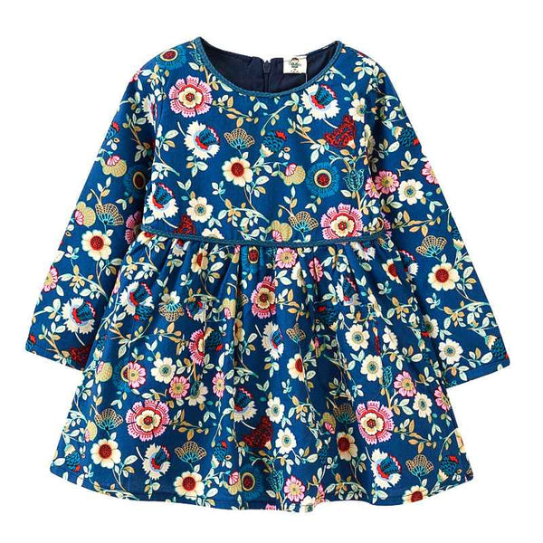 2-6Y VIDMID Girls dresses Children's clothing spring girls dress flowers