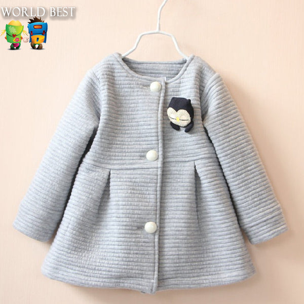 2016 Spring Children Jackets Baby Little Penguin For Girls Bow Girl Clothes
