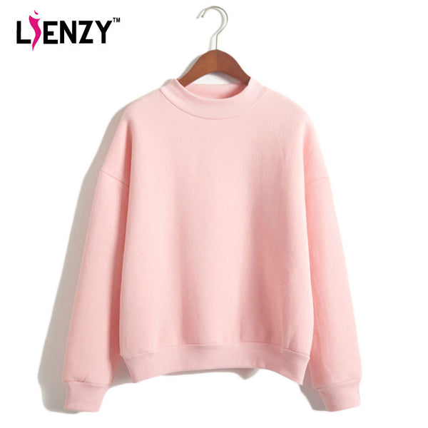 2016 Women Blank Sweatshirt American Apparel Loose Long Sleeve Cashmere Hoodies