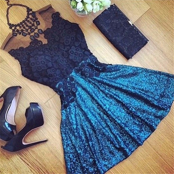 2016 Fashion Summer Style Womens Sexy Lace Hollow Dresses Party Mini Casual Dress