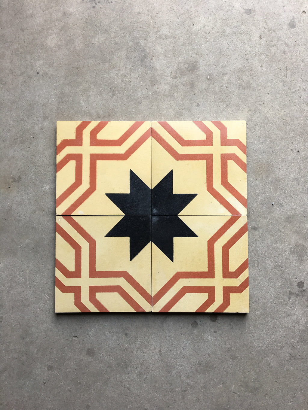 Antique Greek Star Red