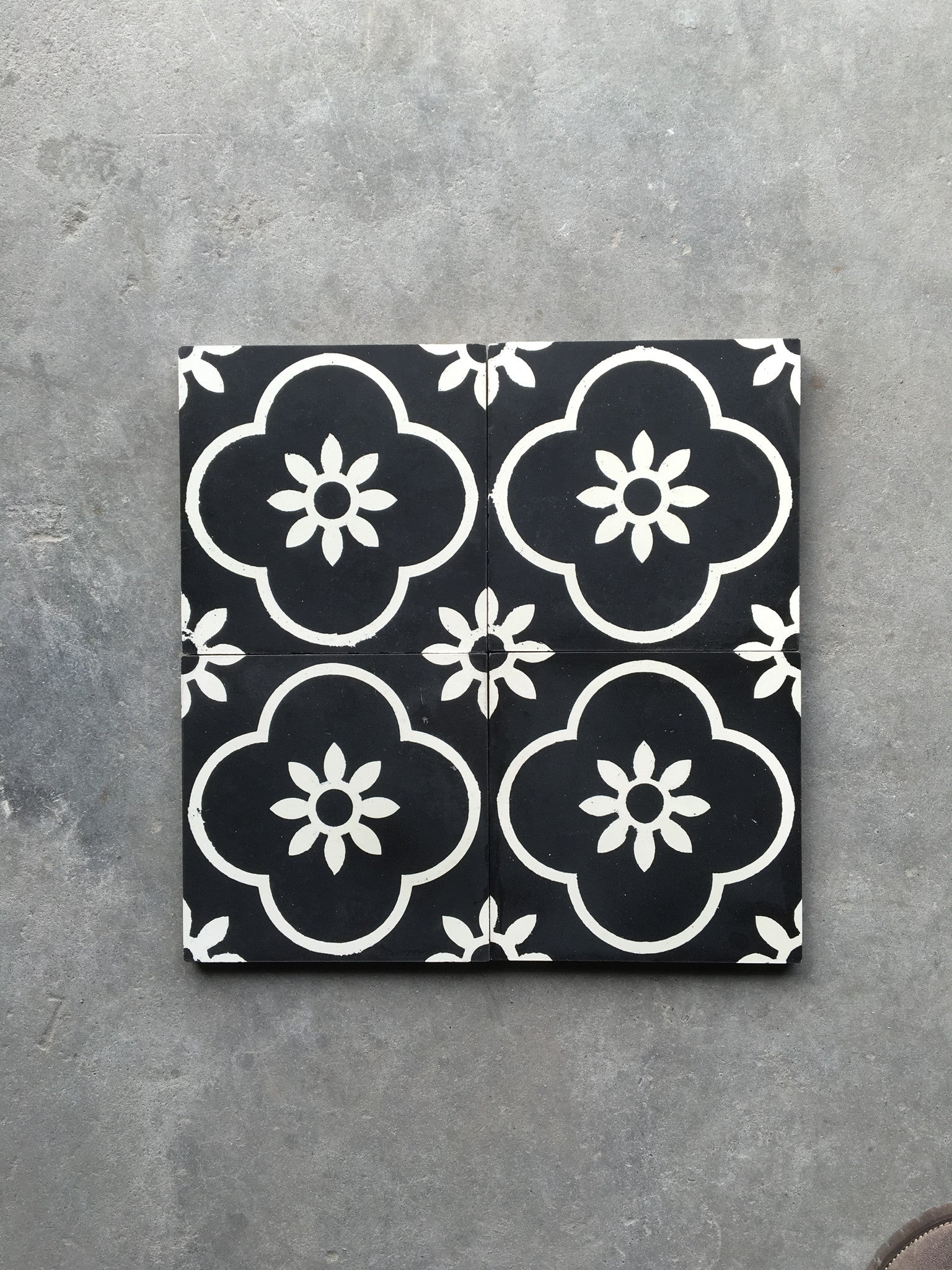 Cement Tile - Sun Blossoms Series