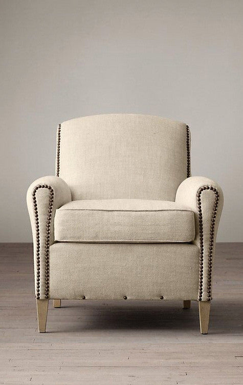 Fabric Armchair 1 - Studded Hems