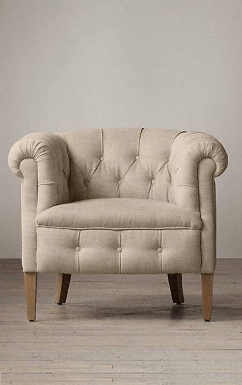 Fabric Chesterfield Chair
