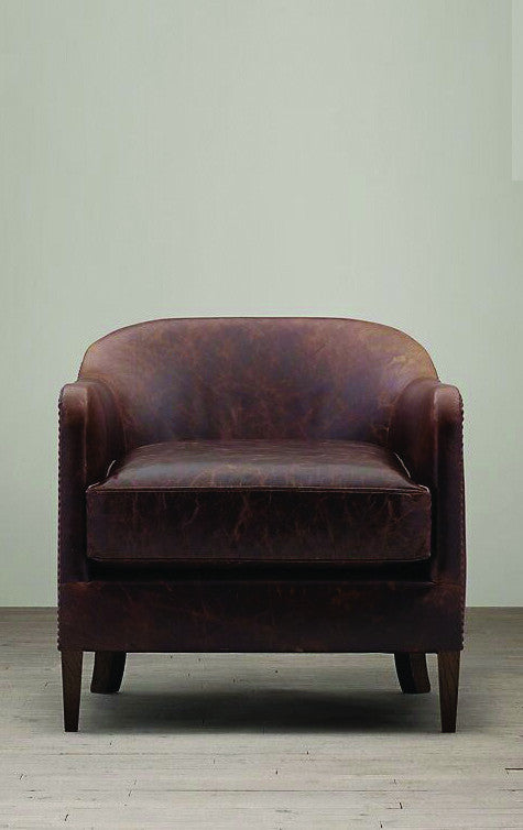 Tub Leather Armchair