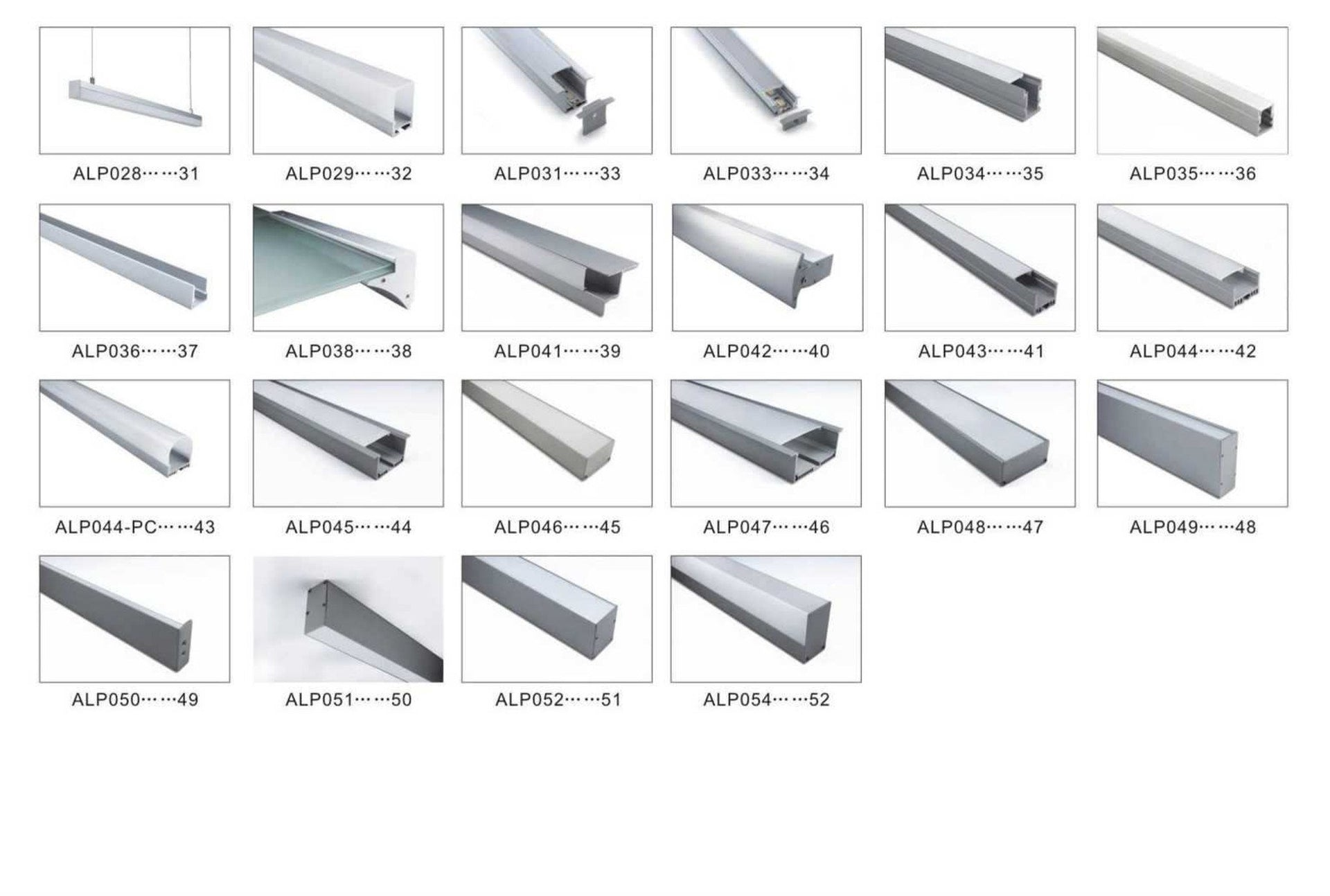 Aluminium Profile for LED Lighting - P001