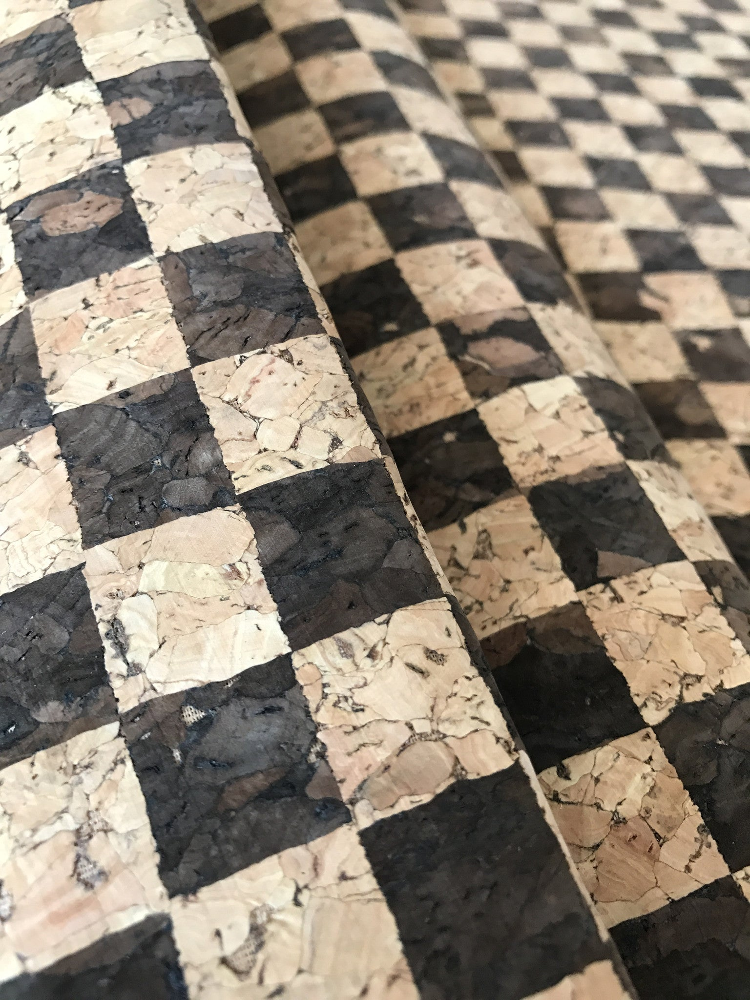Cork Fabric/Leather - Chess Board