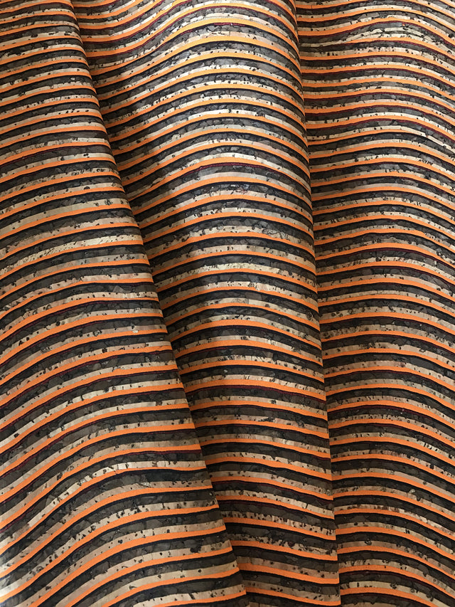 Cork Fabric/Leather - Orange Chocolate