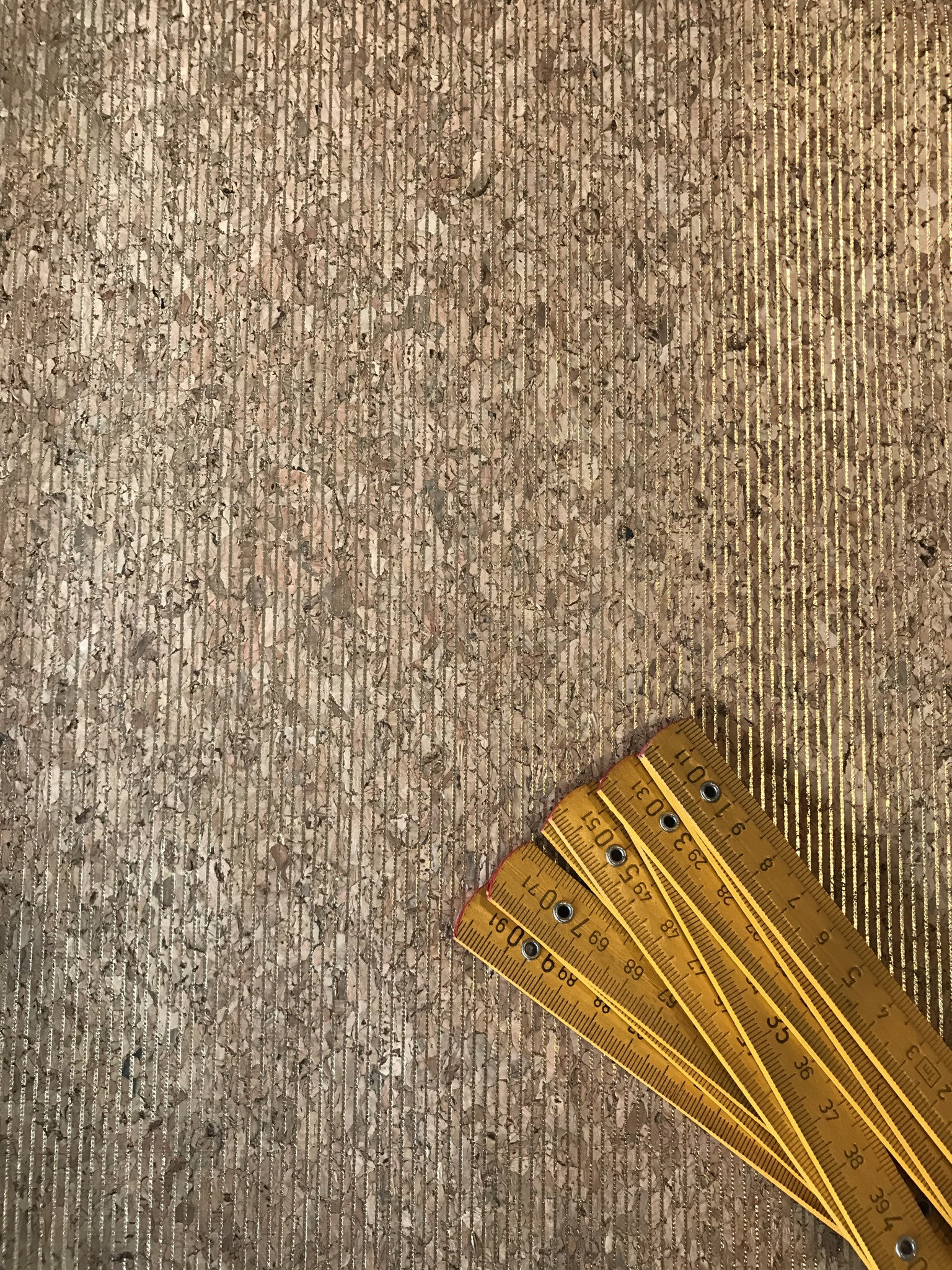 Cork Fabric/Leather - Gold Glare