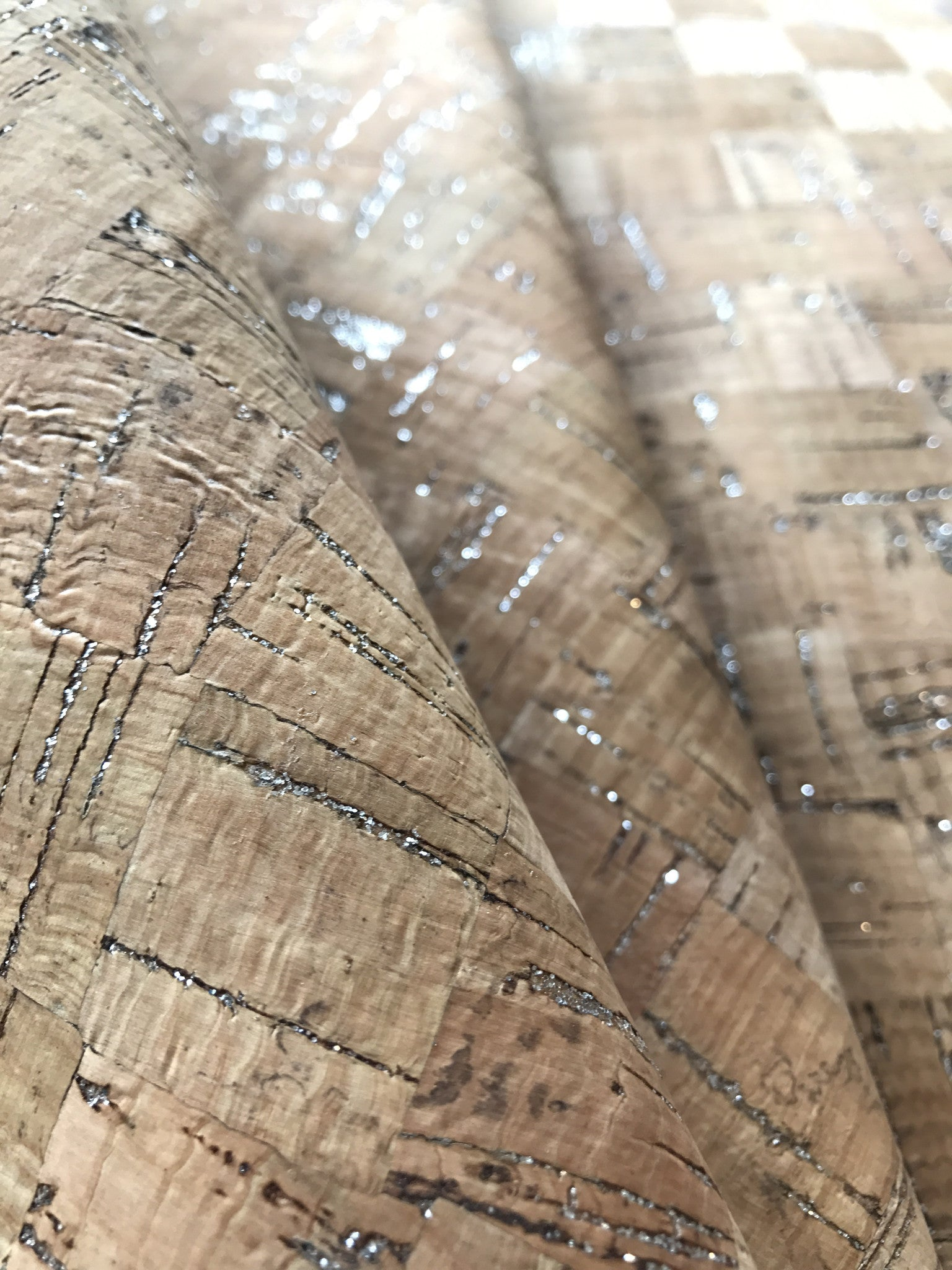 Cork Fabric/Leather - Shimmer