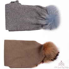 Load image into Gallery viewer, Fur Pom Pom Scarfs (Several Colours)