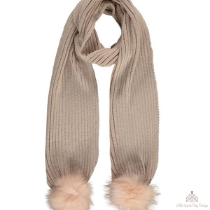 Fur Pom Pom Scarfs (Several Colours)