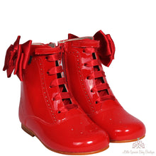 Load image into Gallery viewer, Bambi Bow Boots Red
