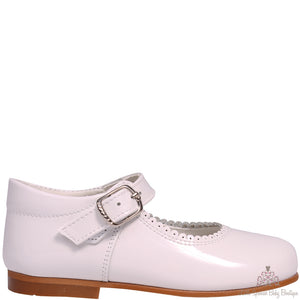 Bambi Leather Shoes White