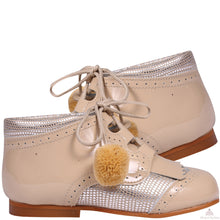 Load image into Gallery viewer, Bambi Pom Pom Shoes Camel