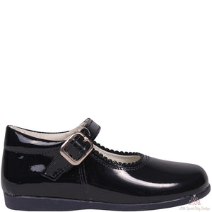 Bambi Leather Shoes Navy