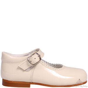 Bambi Leather Shoes Beige