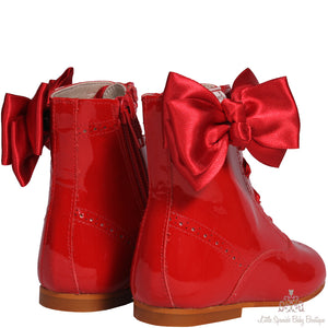 Bambi Bow Boots Red