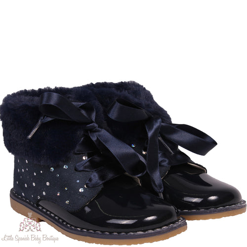 Bambi Boots Navy